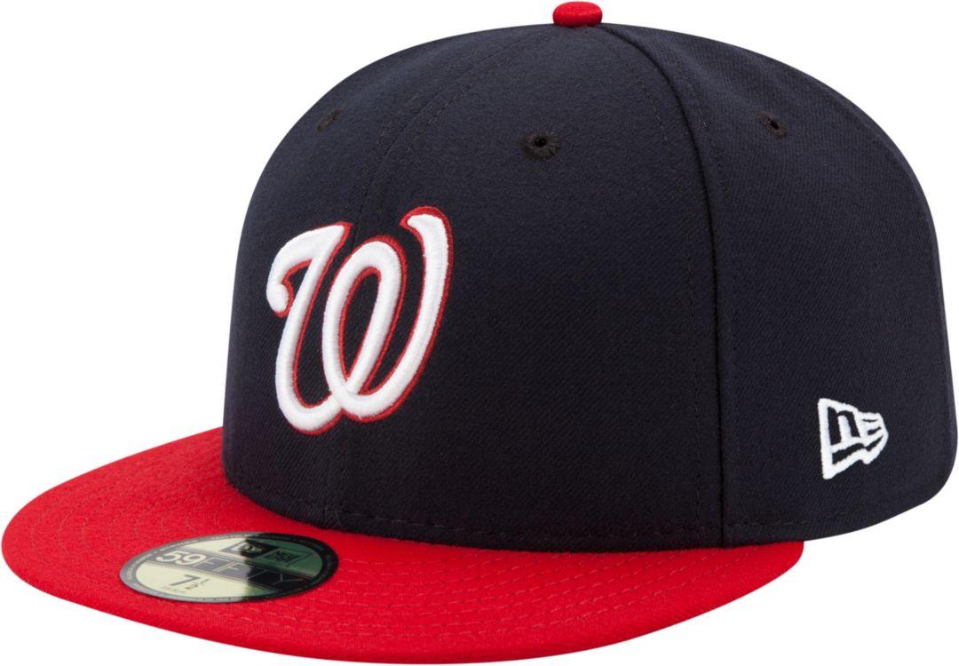 new products 21e6c e45f3 New Era Men s Washington Nationals 59Fifty Alternate Navy Authentic Hat 1