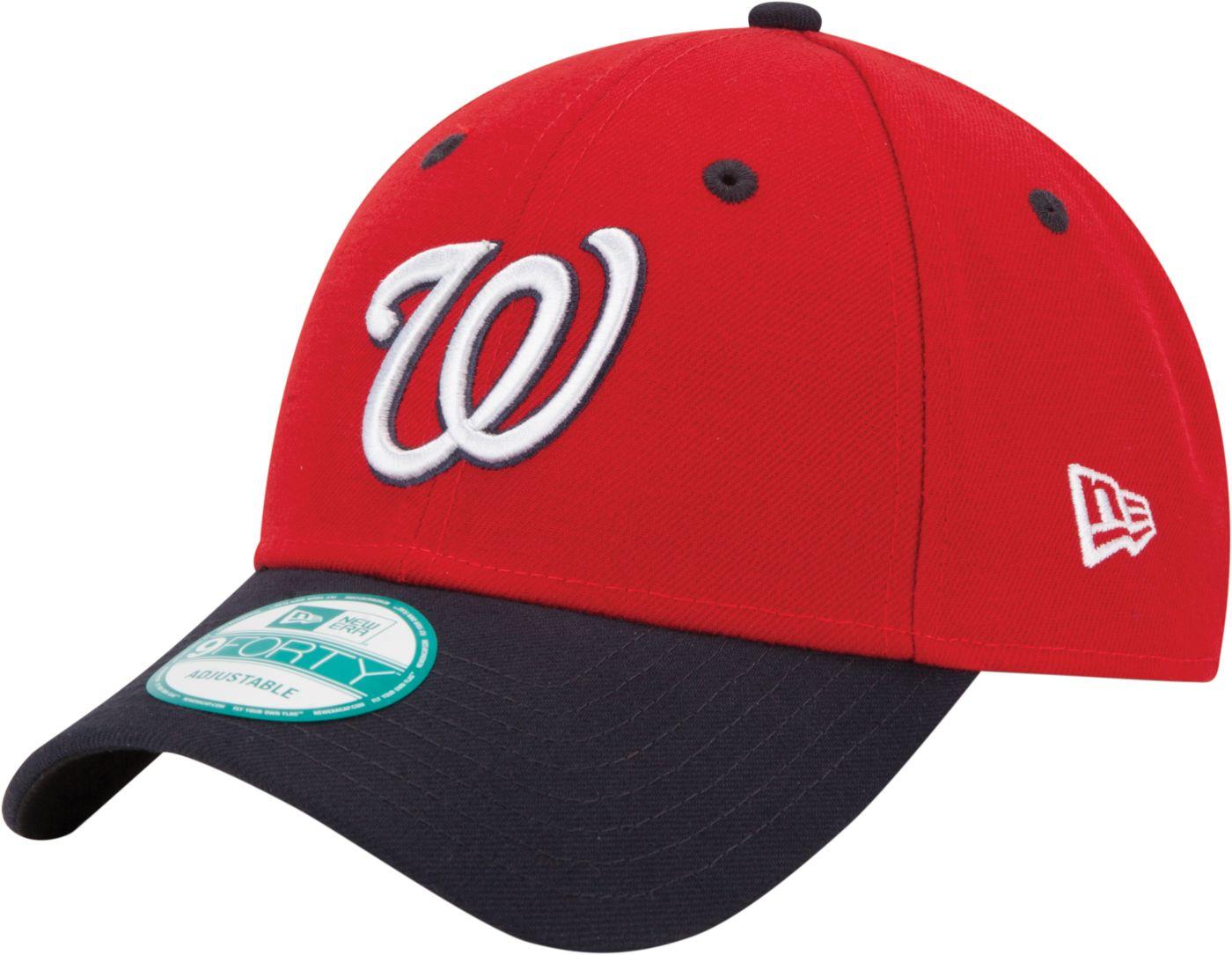 New Era Men's Washington Nationals 9Forty Red Adjustable Hat
