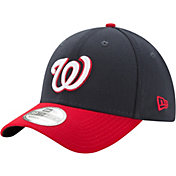New Era Men's Washington Nationals 39Thirty Classic Navy/Red Stretch Fit Hat