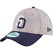 New Era Men's San Diego Padres 9Forty Grey/Navy Adjustable Hat