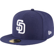 New Era Men's San Diego Padres 59Fifty Home Navy Authentic Hat