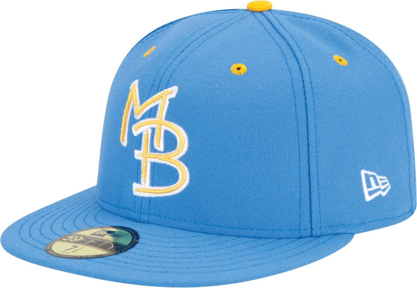 New Era Men's Myrtle Beach Pelicans 59Fifty Light Blue Authentic Hat