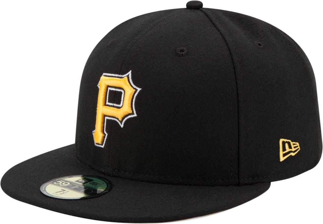 new style d99a2 fa39d New Era Men s Pittsburgh Pirates 59Fifty Alternate Black Authentic Hat 1