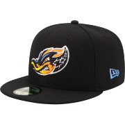 New Era Men's Akron RubberDucks 59Fifty Black Authentic Hat