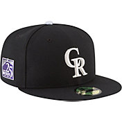 New Era Men's Colorado Rockies 59Fifty Black Authentic Hat w/ 25th Anniversary Patch