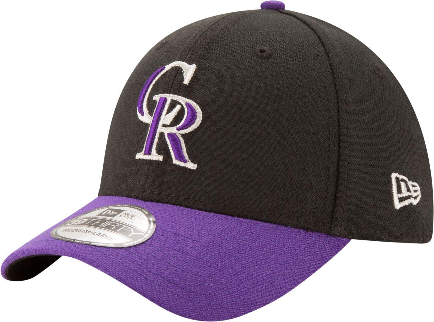 New Era Men's Colorado Rockies 39Thirty Classic Black Stretch Fit Hat