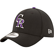 New Era Men's Colorado Rockies 39Thirty Classic Black Stretch Fit Hat