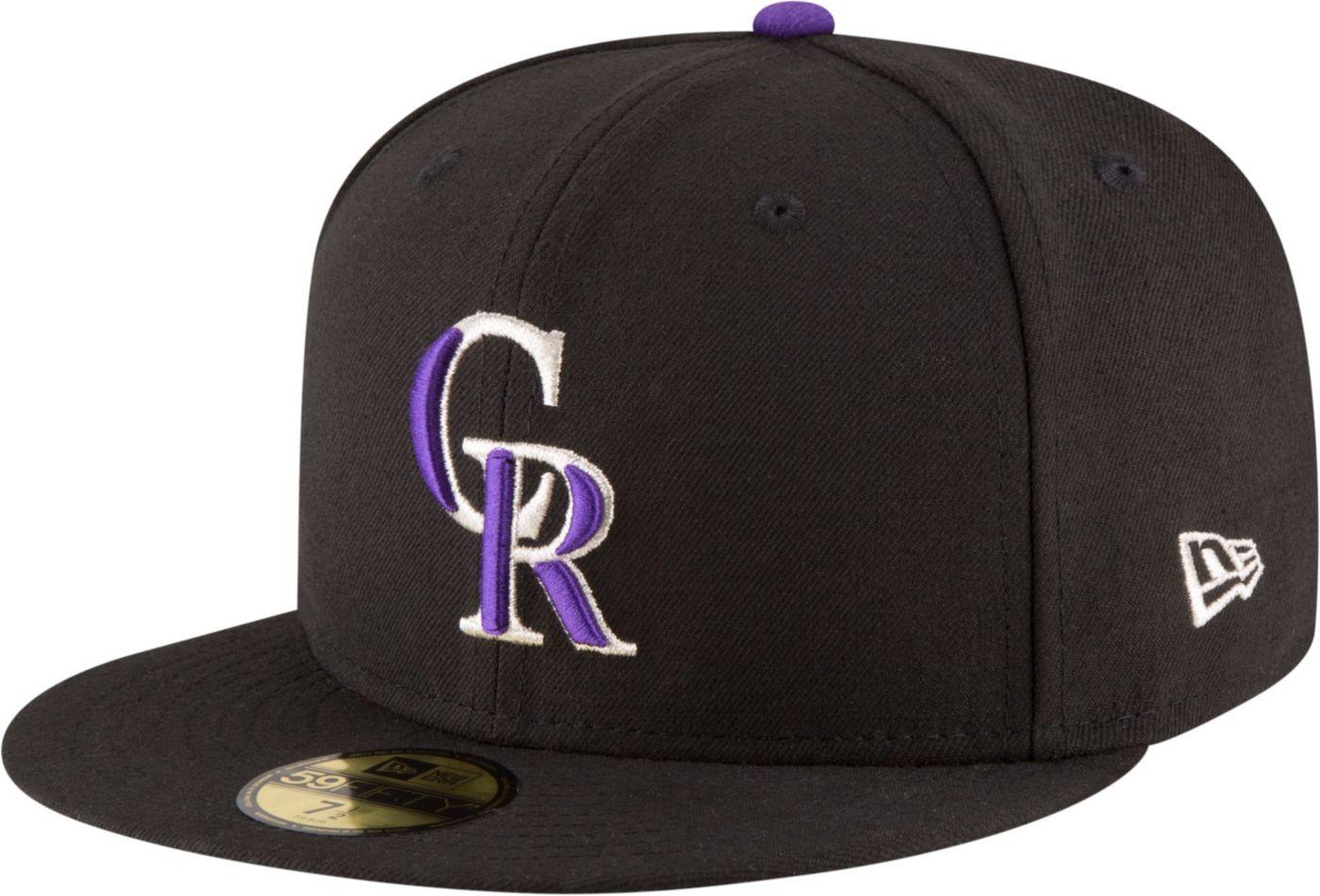 New Era Men's Colorado Rockies 59Fifty Game Black Authentic Hat