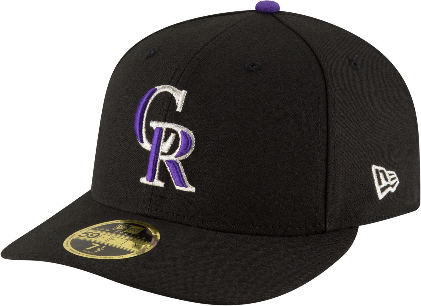 New Era Men's Colorado Rockies 59Fifty Game Black Low Crown Authentic Hat