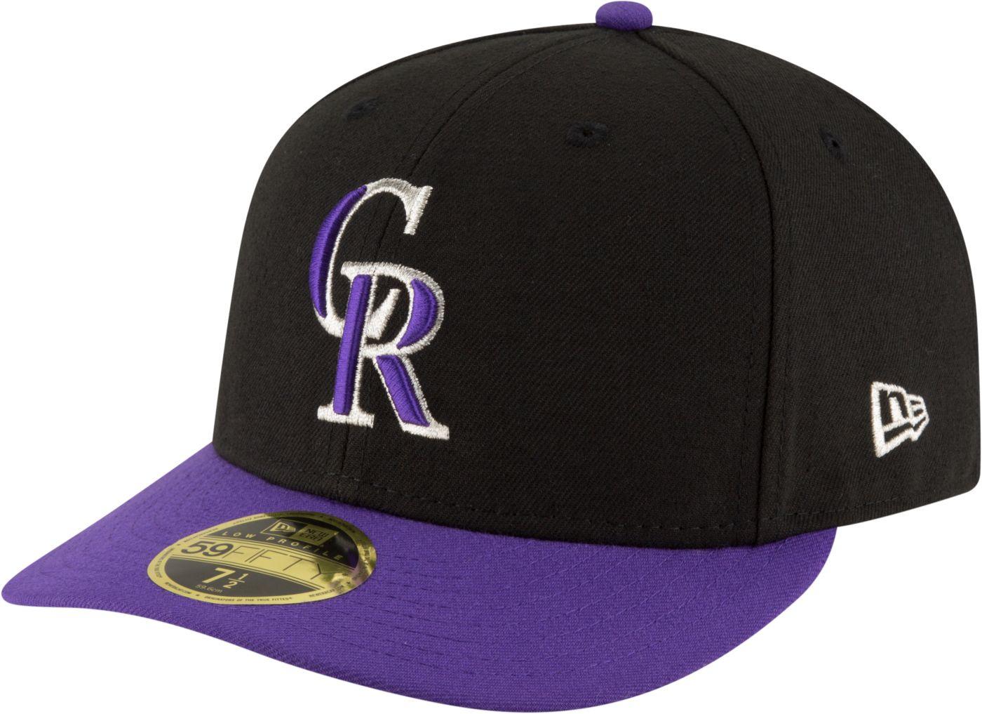 New Era Men's Colorado Rockies 59Fifty Alternate Black Low Crown Authentic Hat
