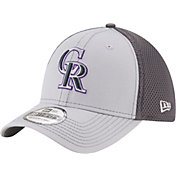New Era Men's Colorado Rockies 39Thirty Grayed Out Grey Stretch Fit Hat