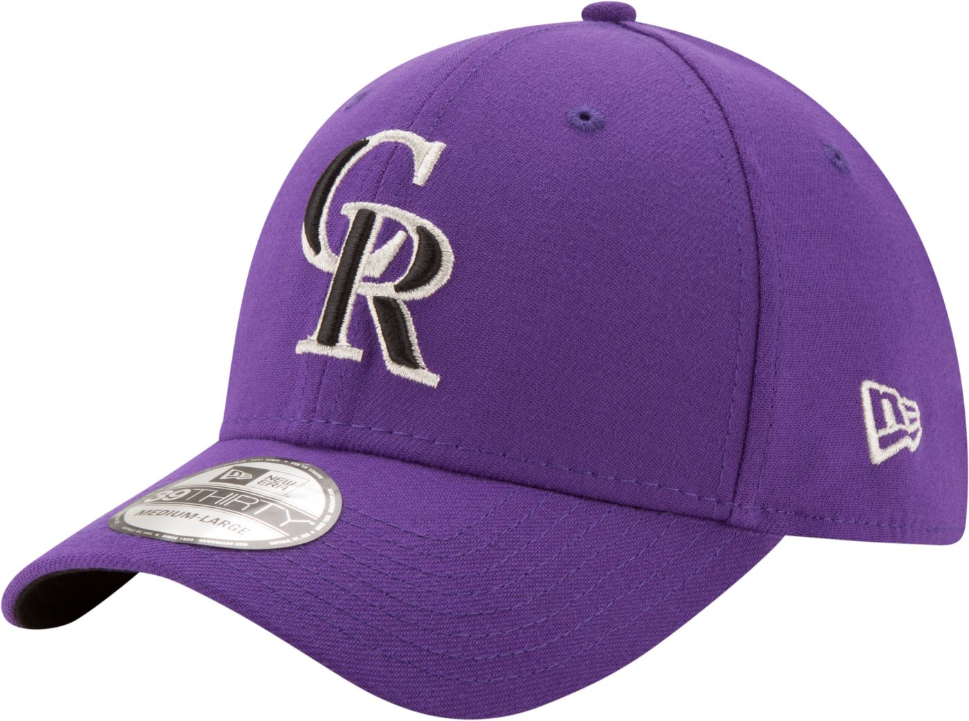New Era Men's Colorado Rockies 39Thirty Purple Stretch Fit Hat