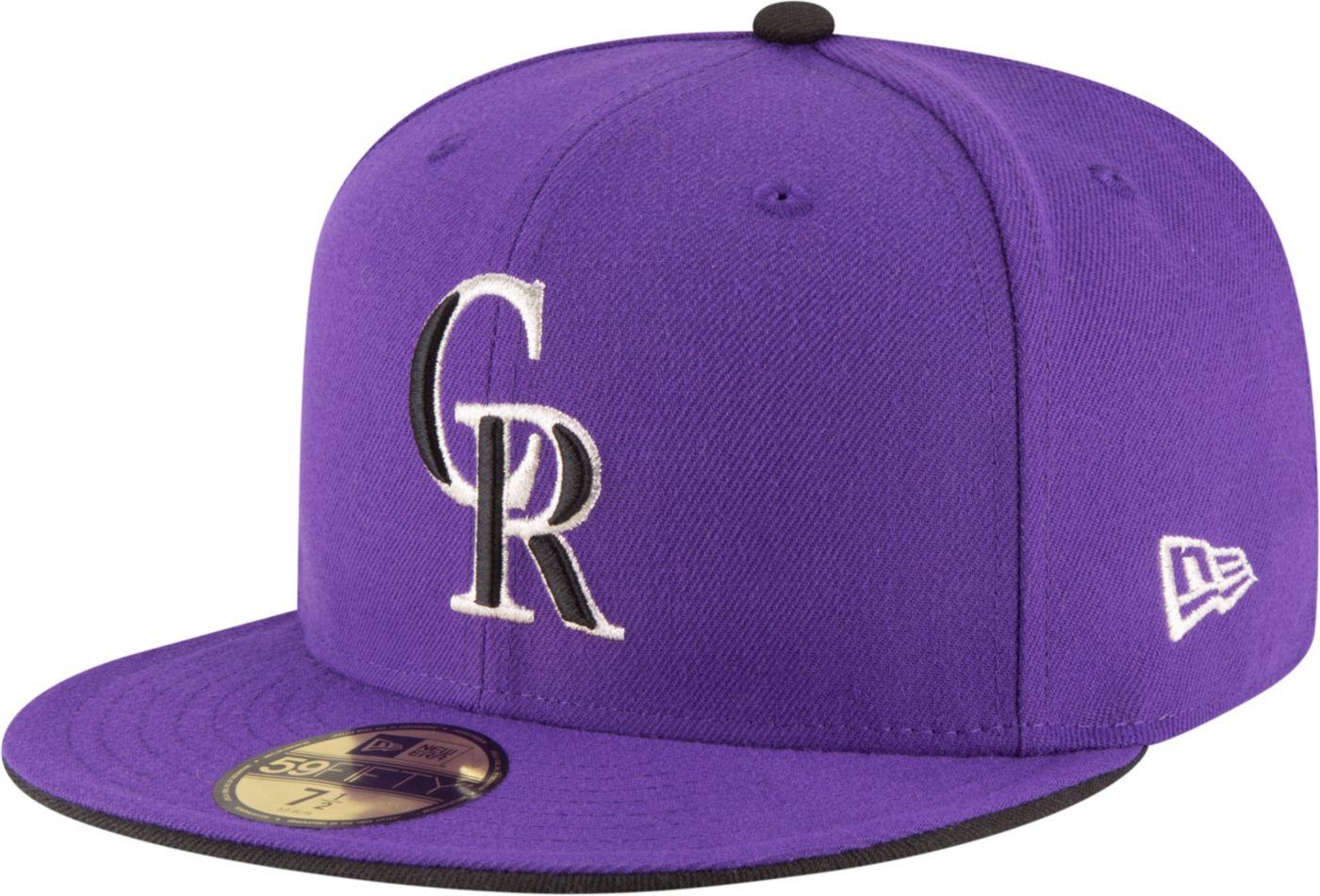 New Era Men's Colorado Rockies 59Fifty Alternate Purple Authentic Hat