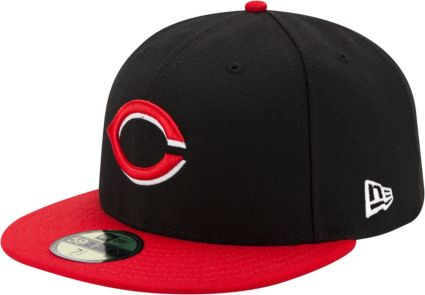 best cheap a3846 f54a1 New Era Men s Cincinnati Reds 59Fifty Alternate Black Authentic Hat.  noImageFound. Previous. 1