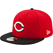 New Era Men's Cincinnati Reds 59Fifty Road Red Authentic Hat