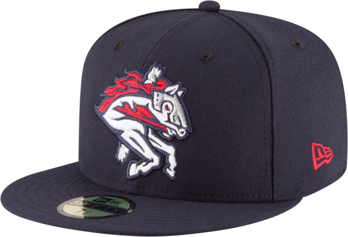 New Era Men's Binghamton Rumble Ponies 59Fifty Navy Authentic Hat