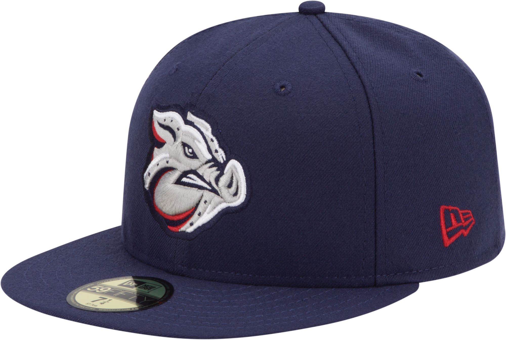 New Era Men's Lehigh Valley IronPigs 59Fifty Navy Authentic Hat, Size: 7 1/4, Multi