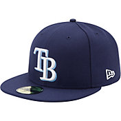 New Era Men's Tampa Bay Rays 59Fifty Game Navy Authentic Hat