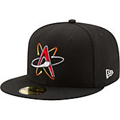 New Era Men's Albuquerque Isotopes 59Fifty Black Authentic Hat