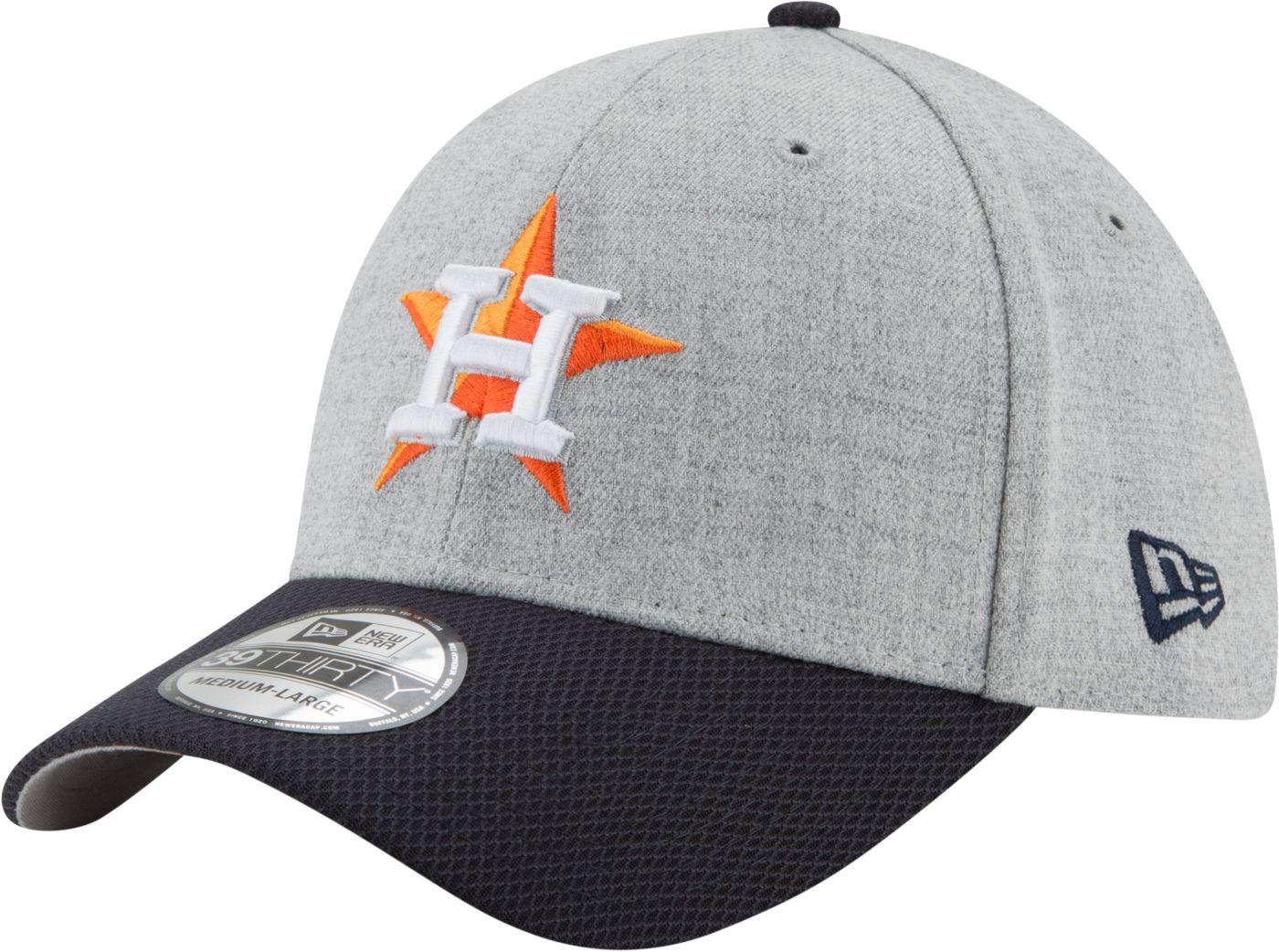 New Era Men's Houston Astros 39Thirty Change Up Redux Grey Stretch Fit Hat