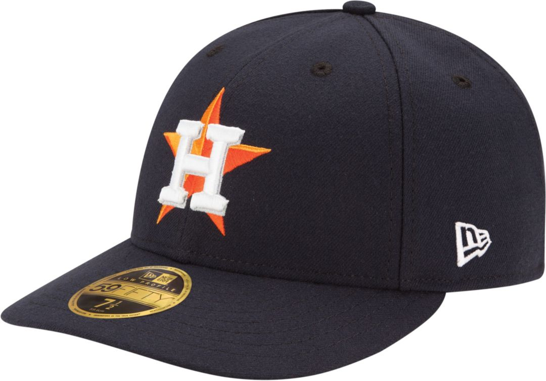 945f98f3b New Era Men's Houston Astros 59Fifty Home Navy Low Crown Authentic Hat