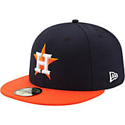 New Era Men's Houston Astros 59Fifty Road Navy Authentic Hat