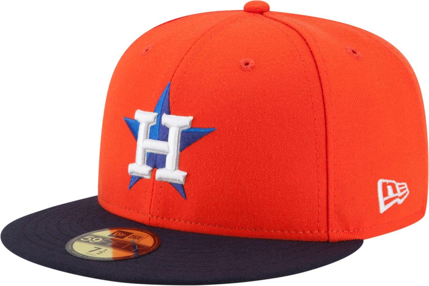 New Era Men's Houston Astros 59Fifty Alternate Orange Authentic Hat