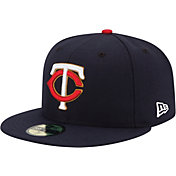 New Era Men's Minnesota Twins 59Fifty Road Navy Authentic Hat