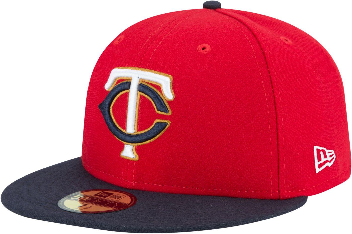 New Era Men's Minnesota Twins 59Fifty Alternate Red Authentic Hat
