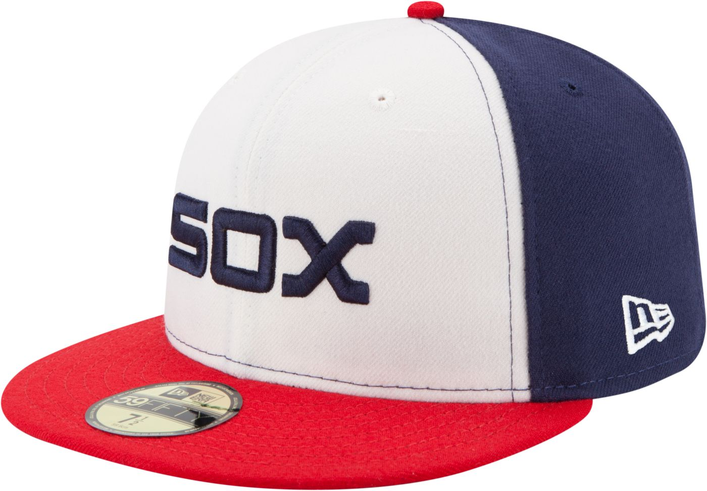 New Era Men's Chicago White Sox 59Fifty Alternate White/Navy Authentic Hat
