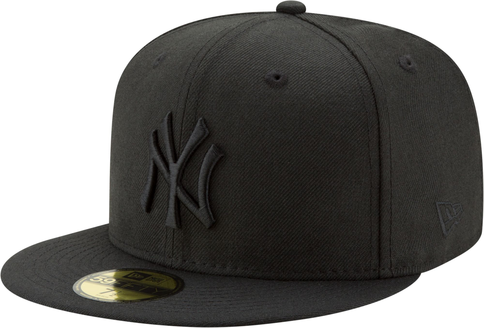 ... sale new era mens new york yankees 59fifty black on black fitted hat  7ba0c e5e58 1a1ccc45e6a