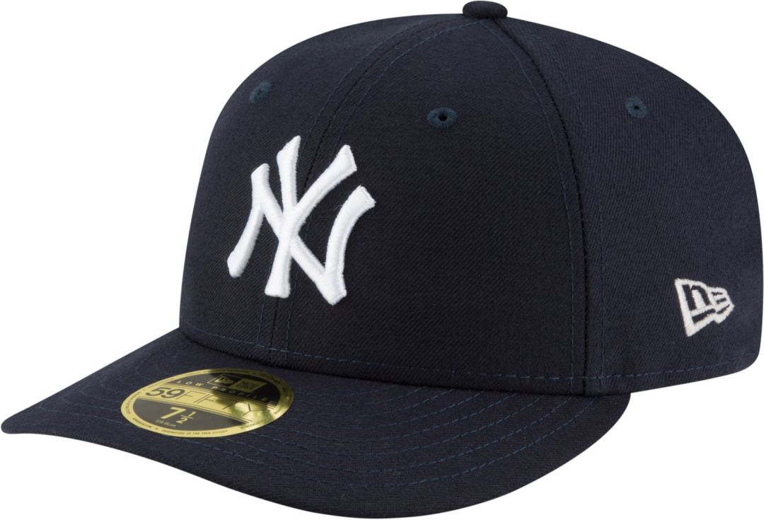 new products 73d91 a6a8e New Era Men s New York Yankees 59Fifty Game Navy Low Crown Authentic Hat 1