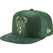 New Era Men's Milwaukee Bucks On-Court 9Fifty Adjustable Snapback Hat