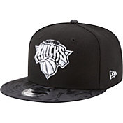 New Era Men's New York Knicks 9Fifty Black Camo Adjustable Snapback Hat