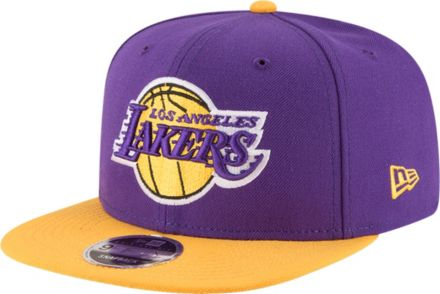 4c06394b4c0 New Era Men's Los Angeles Lakers 9Fifty Adjustable Snapback Hat