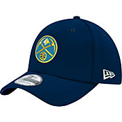 New Era Men's Denver Nuggets 39Thirty Navy Stretch Fit Hat