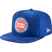 New Era Men's Detroit Pistons On-Court 9Fifty Adjustable Snapback Hat