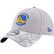New Era Men's Golden State Warriors 9Twenty Grey Camo Adjustable Hat