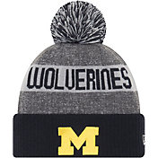 New Era Men's Michigan Wolverines Blue Sport Knit Beanie
