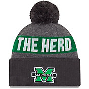 New Era Men's Marshall Thundering Herd Green NE16 Sport Knit Beanie