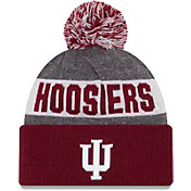 New Era Men's Indiana Hoosiers Grey NE16 Sport Knit Beanie