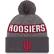 New Era Men's Indiana Hoosiers Grey Sport Knit Beanie