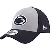 New Era Men's Penn State Nittany Lions Grey/Blue The League Blocked 9FORTY Adjustable Hat