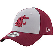 New Era Men's Washington State Cougars White/Crimson The League Blocked 9FORTY Adjustable Hat