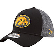 New Era Men's Iowa Hawkeyes Grey Fierce Fill 39Thirty Stretch Fit Hat