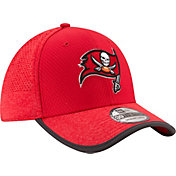 New Era Men's Tampa Bay Buccaneers 2017 Training Camp 39Thirty Red Stretch Fit Hat
