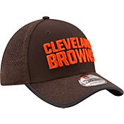 New Era Men's Cleveland Browns 2017 Training Camp 39Thirty Brown Stretch Fit Hat