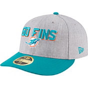 New Era Men's Miami Dolphins 2018 NFL Draft 59Fifty Fitted Grey Hat
