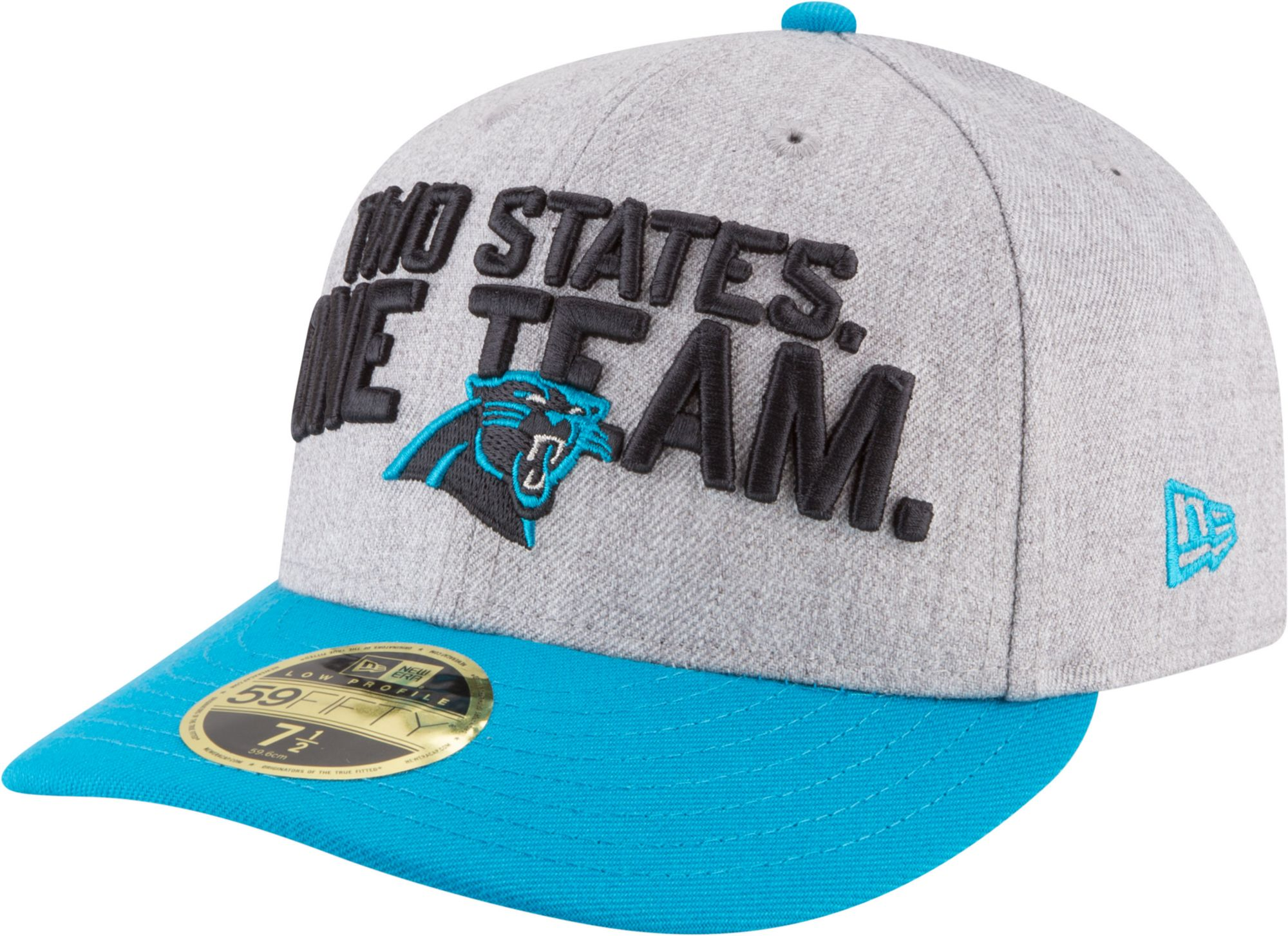 new style 06a07 91bf1 ... sweden new era mens carolina panthers 2018 nfl draft 59fifty fitted  grey hat afcaa 830f2
