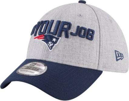 New Era Men s New England Patriots 2018 NFL Draft 39Thirty Stretch Fit Grey  Hat. noImageFound 14b8ed8ee